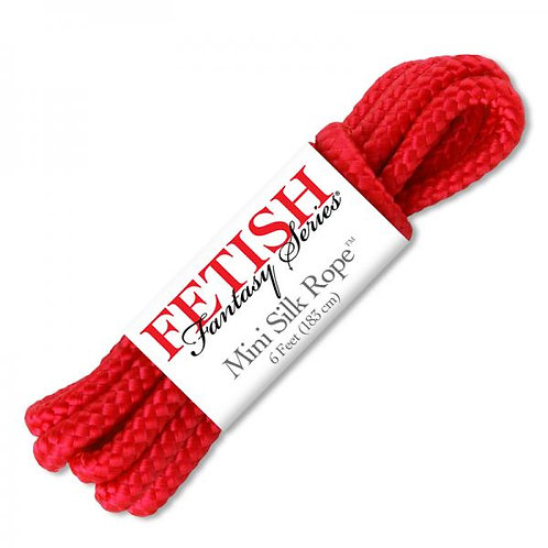 Fetish Fantasy Mini Silk Rope Red