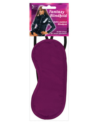Satin blindfold 2 strap - burgundy