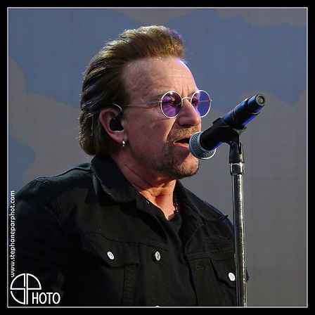Bono, chanteur du groupe pop-rock U2, The Joshua Tree Tour 2017, Dublin, Croke Park