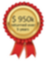 Rosette 950k returned over five years_In