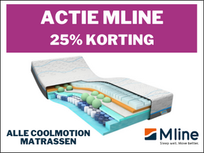 25% korting op alle coolmotion matrassen van M line