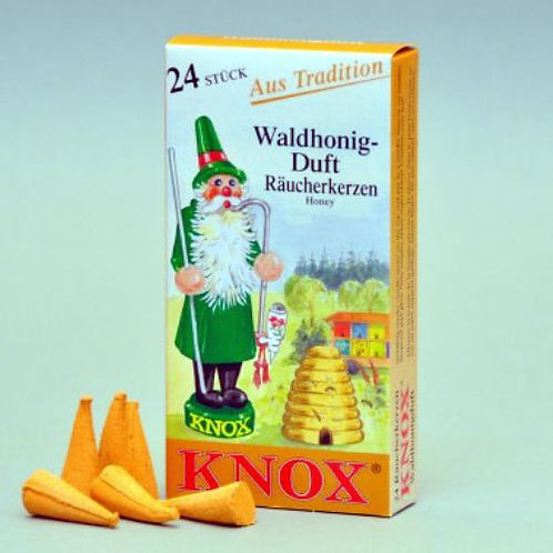 "#013-160 - Famous KNOX Brand ""Forest Honey"" Incense Cones - Box of 24"