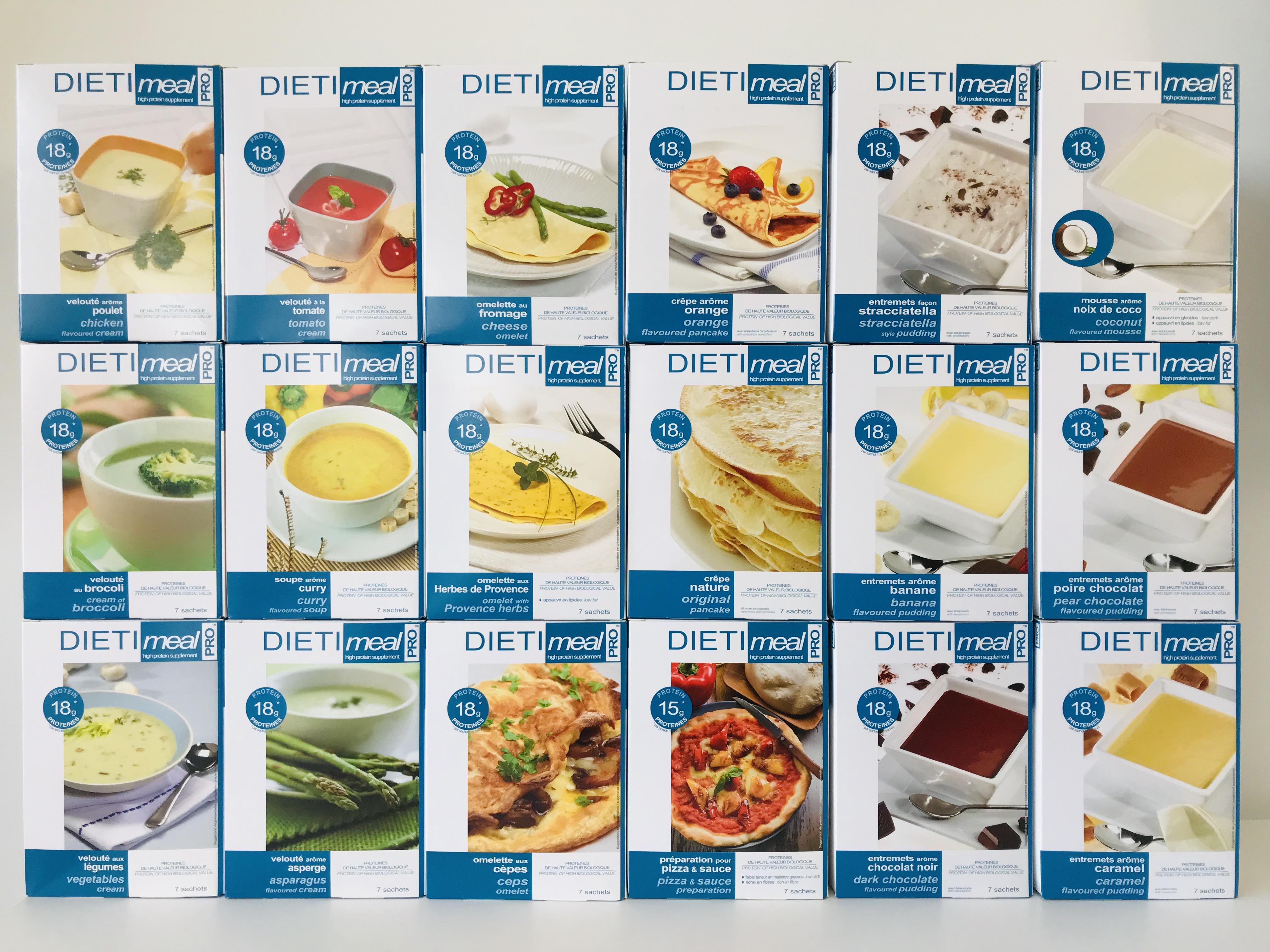 Leverancier dieet hoofdgerechten