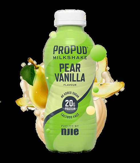 Milkshake_peer & vanille-NJIE-ontbijtshake -proteinshake-eiwitshake-wheyshake-lactosevrij.