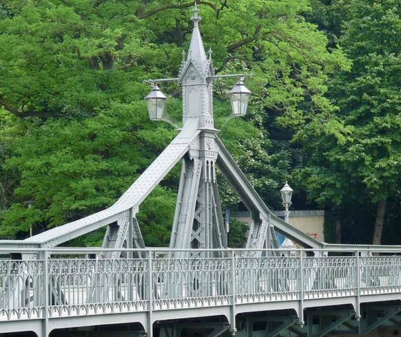 Geländer Paradiesbrücke Zwickau