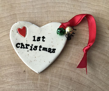 First Christmas ceramic heart ornament.j