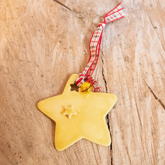 Star ceramic ornament