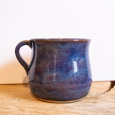 Blue and purple ceramic mug