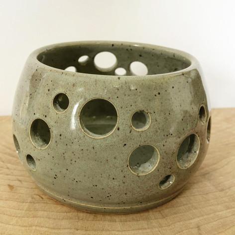 Light green ceramic knitting bowl