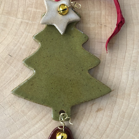 Christmas tree ceramic ornament