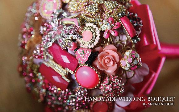 Magenta handmade bouquet