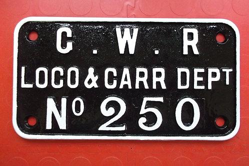 GWR Crane plate