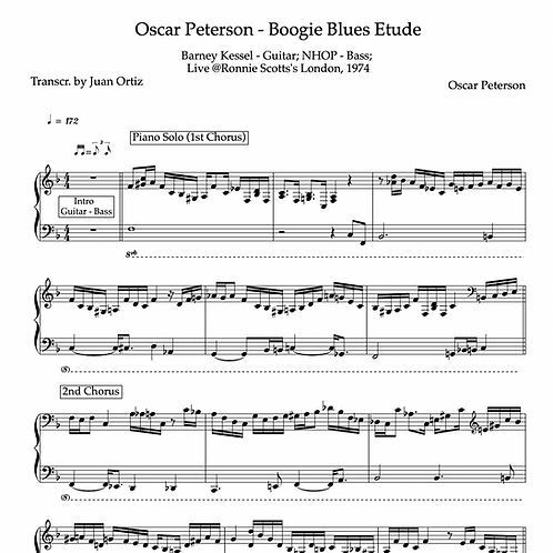 Oscar Peterson (Transcription) - Boogie Blues Etude