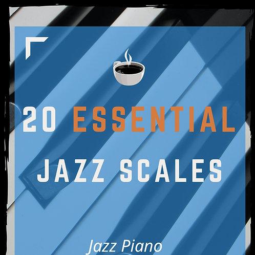 20 Essential Jazz Scales (All Keys) [ENG-ESP-日本語]