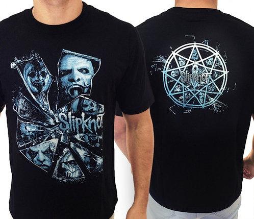 Slipknot - Rostos (azul)