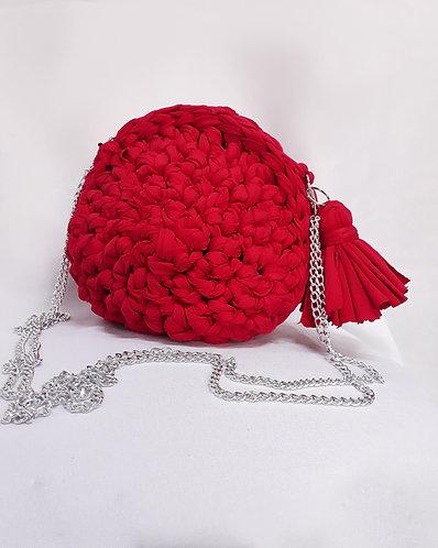 Bolsa de Crochê Vermelha