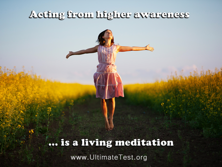 Acting from Higher Awareness is a living meditation