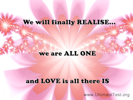 We are all ONE...