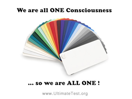 We are all ONE Consciousness