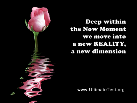 Deep within the Now Moment we move into a new REALITY, a new dimension
