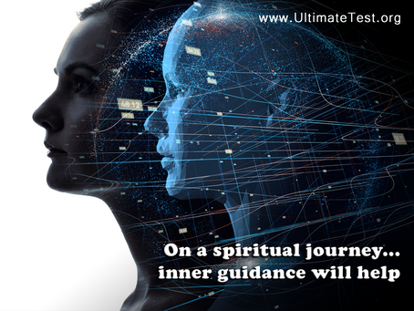 On a spiritual journey... inner guidance will help