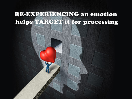 (Challenge 2 - Page 19) RE-EXPERIENCING an emotion helps TARGET it for processing