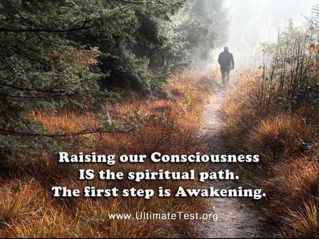 Raising our Consciousness IS the spiritual path. The first step is Awakening.