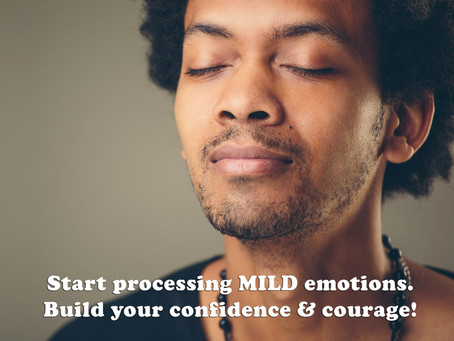 (Challenge 2 - Page 12) Start processing MILD emotions. Build your confidence & courage!