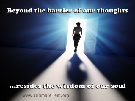 Beyond the barrier of our thoughts...