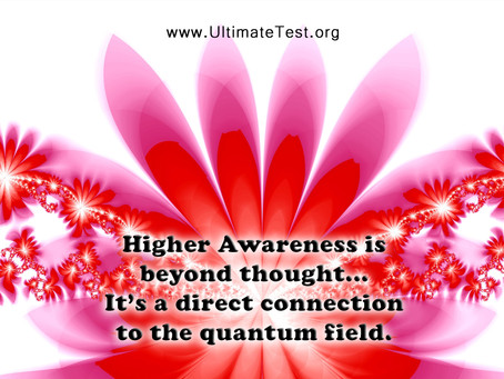 Higher Awareness is beyond thought...