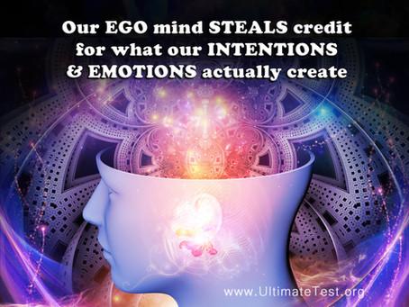 Our EGO mind STEALS credit...