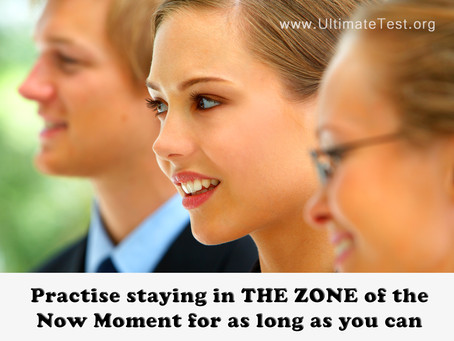 Practise staying in THE ZONE