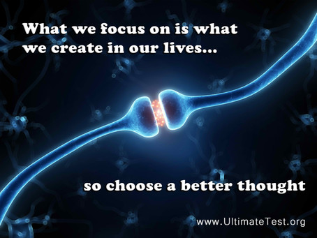 What we focus on is what we create in our lives...