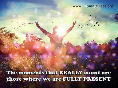 The moments that really count are those.