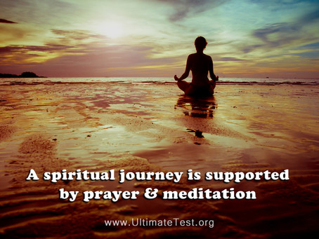 A spiritual journey is supported by...