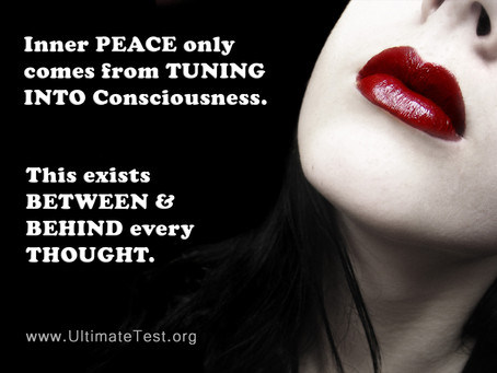 Inner peace only comes from...