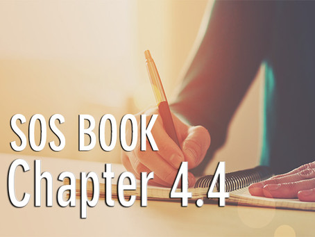 SOS BOOK (Chapter 4.4) Confirming our commitment & more strategies for success