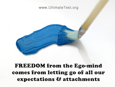FREEDOM from the Ego-mind comes from letting go of all our expectations & attachments