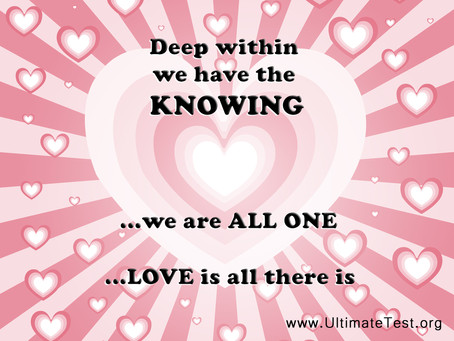 Deep within we have the knowing...