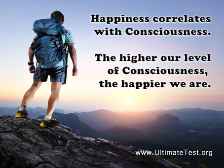 Happiness correlates with Consciousness