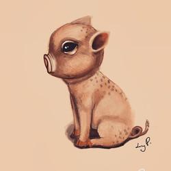 🐽._._._#illustration #vegan #yoga #coff