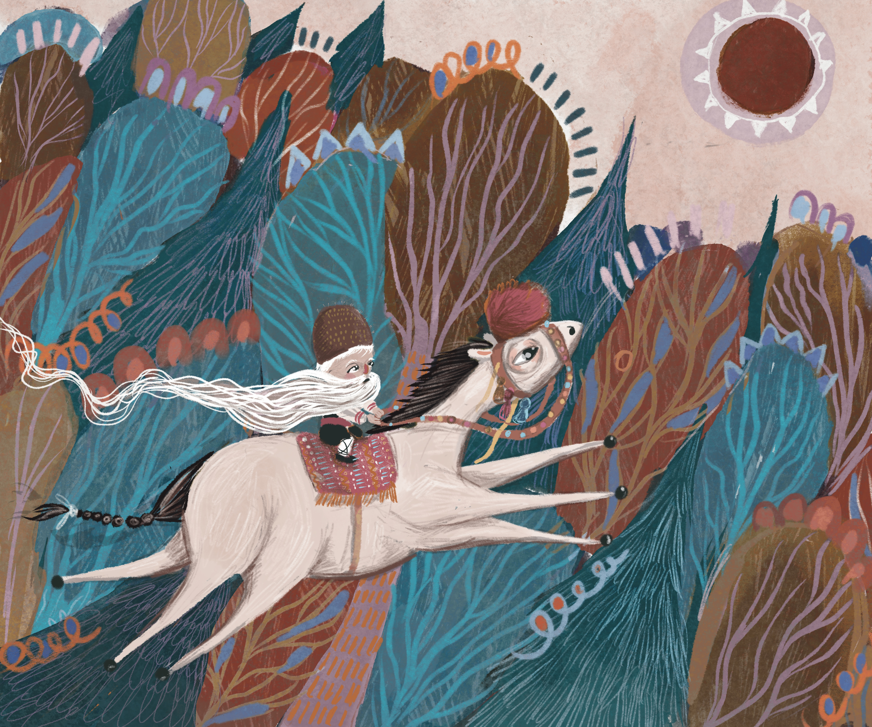Fast Horse long beard