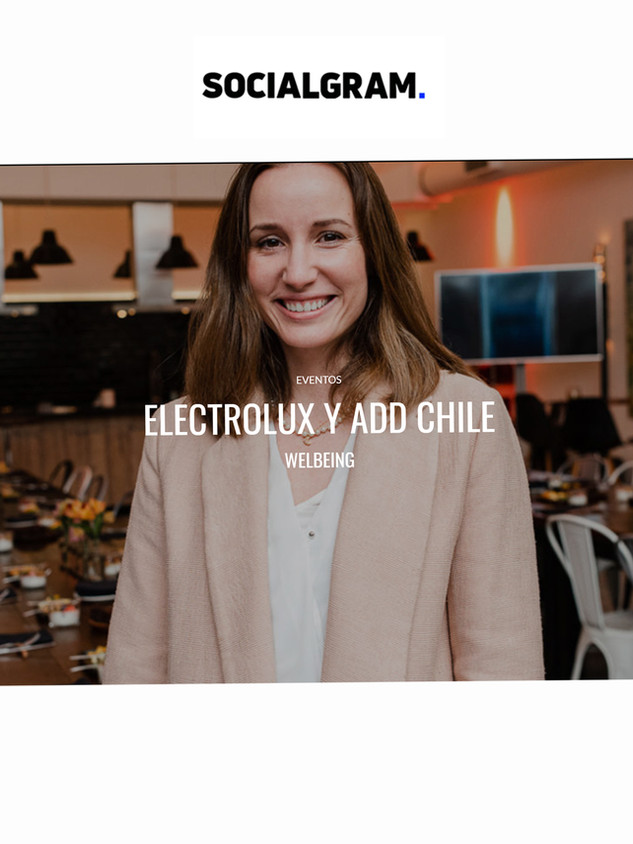 Electrolux y AdD Chile Welbeing