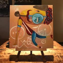 Palermitano e la bici volante - Canvas 30x30cm