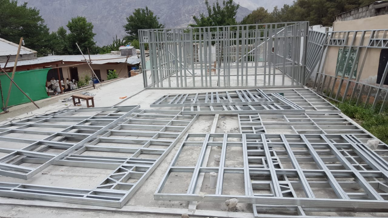 Steel Framing Preparation on Site