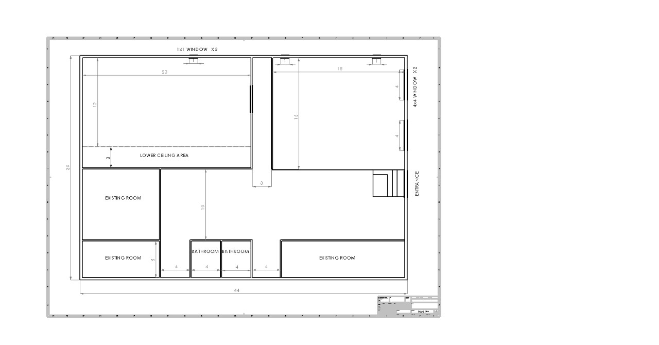 Modification to Existing Building Dwg Sample
