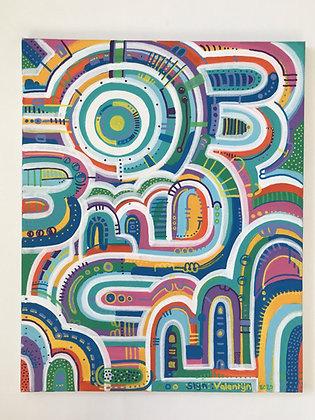 'Modern doodle city'
