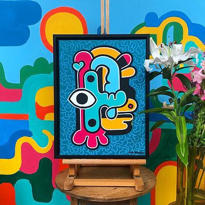 Acrylic doodle on canvas