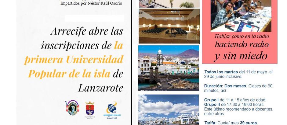 Con 18 cursos y talleres Universidad Popular de Arrecife, comienza su andadura.