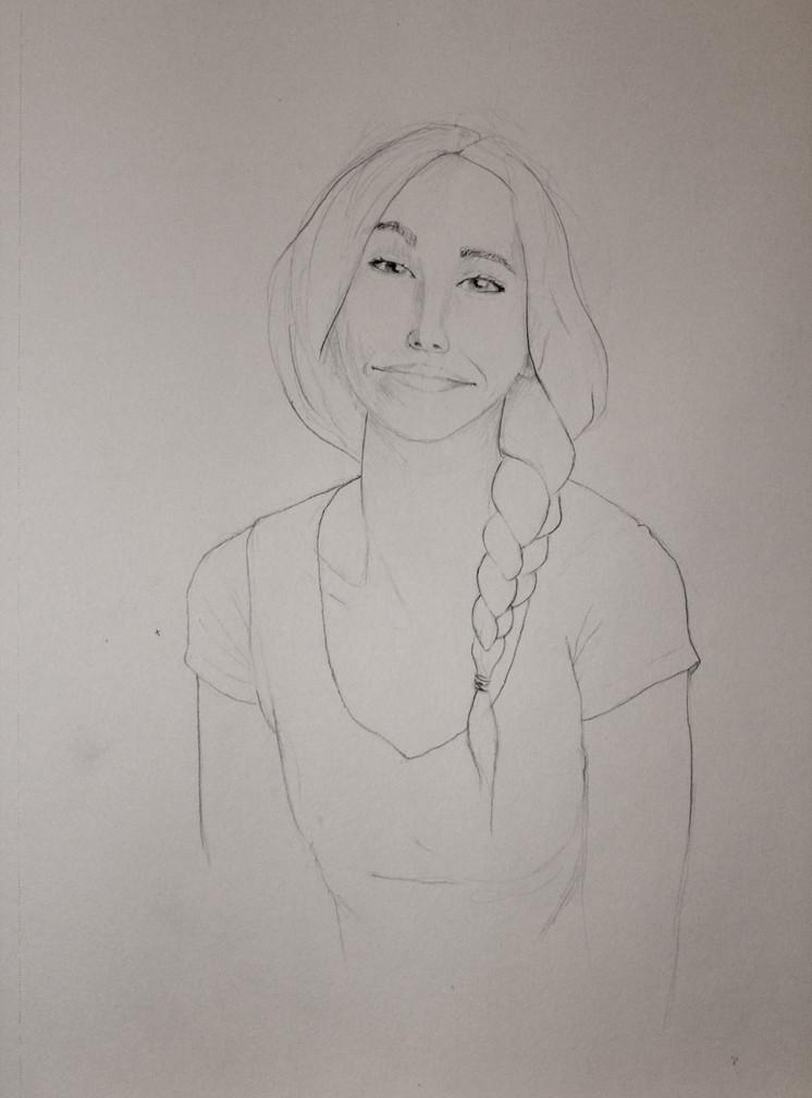 Portrait sketch practice